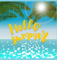 seascape hello summer vector image
