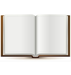An open book in hardcover vector image vector image