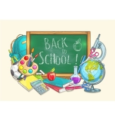 Back to school welcome banner background vector