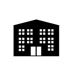buildings icons sign isolated on white vector image vector image