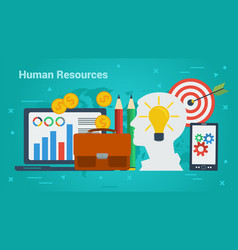 business banner - human resources vector image vector image