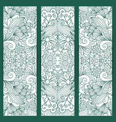 creative vertical flyers white blue pattern vector image vector image