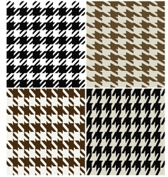 fashion abstract hounds tooth pattern vector image vector image