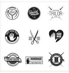 Hand made labels badges and design elements in vector image vector image