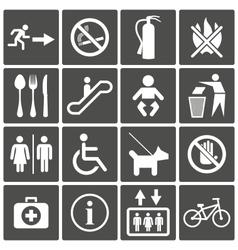 International Service Signs vector image