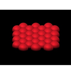red half-spheres vector image