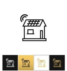 Smart home icon vector image vector image