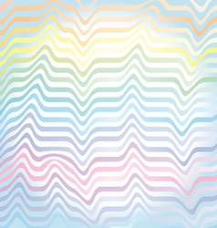 Abstract rainbow waves pastel background vector