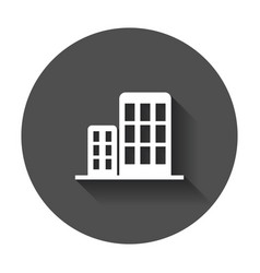 building icon business with long shadow vector image