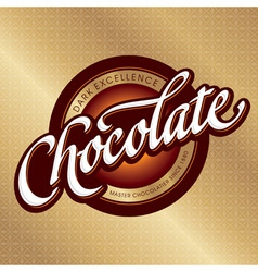 chocolate packaging design vector image vector image