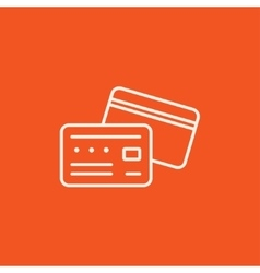 Credit card line icon vector image vector image