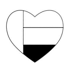 United arab emirates heart shape flag vector