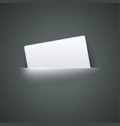 White Empty Label label in pocket vector image