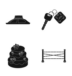 advertising cooking and or web icon in black vector image