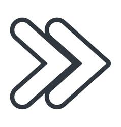 Arrow isolated flat icon vector image