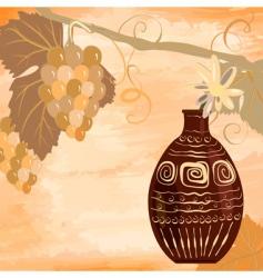 grunge vine design vector image