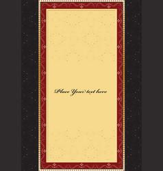vintage background card for design vector image vector image