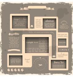 Web design in Retro style 2 vector image