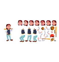 baseball boy schoolboy kid sport school vector image