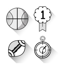 Basketball football and chronometer sports games vector