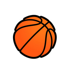 basketball logo icon streetball vector image