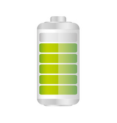 Battery in ninety percent icon vector