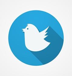 Bird social web or internet button Blue Fat Bird vector image