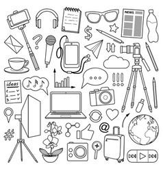blog object set vector image