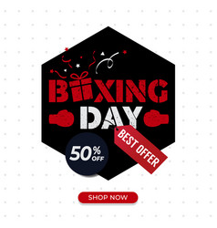 Boxing day sale poster best offer poster vector