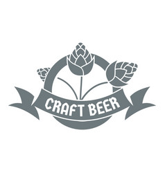 Brewery logo simple gray style vector