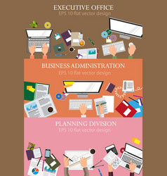 Business administration vector