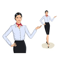 Business style fashion portrait and full length vector