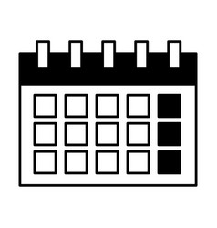 calendar plan reminder date isolated vector image