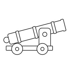 Cannon icon outline style vector