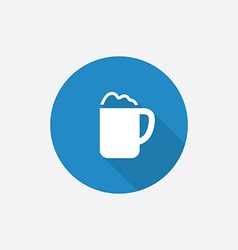 cappuccino Flat Blue Simple Icon with long shadow vector image
