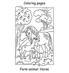 Coloring horse vector
