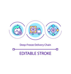 deep-freeze delivery chain concept icon vector image