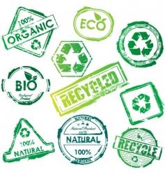 Eco stamp vector