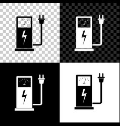electric car charging station icon isolated on vector image