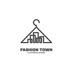 fashion town logo vector image