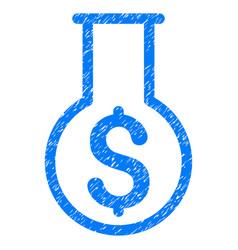 Financial alchemy grunge icon vector
