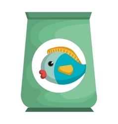 fish bag food mascot vector image
