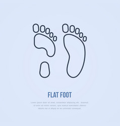 flatfoot icon line logo flat sign for orthopedic vector image