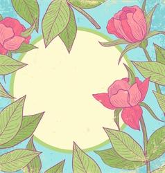 Flower vintage pink vector