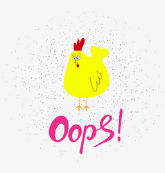 funny cartoon chicken hand drawn elements for vector image
