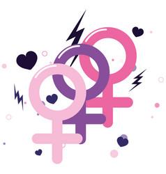 Gender feminism girl power vector