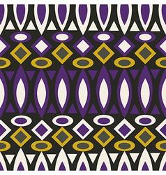 Geometric retro abstract seamless pattern on black vector