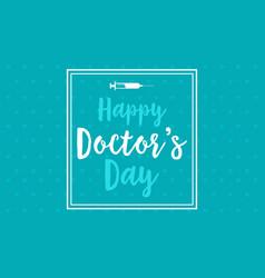 Happy doctor day flat vector