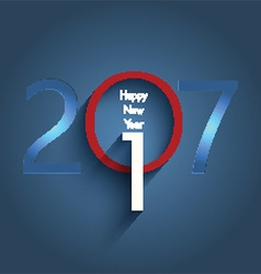 happy new year typography design vector image