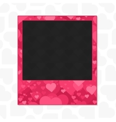 Heart photo frame vector